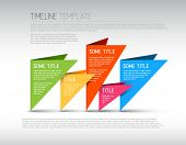 Colorful  Vector Infographic timeline report template with triangles