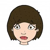cartoon worried female face