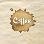 Vintage Paper With Coffee, Vector Illustration