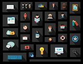 Flat Style UI Icons to use for your business project, marketing promotion, mobile advertising, resea