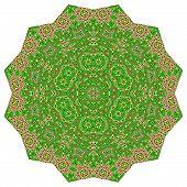 Polygonal colorful ornament