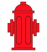 Red Fire Hydrant Isolated On White. Eps10