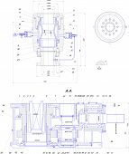 picture of mechanical drawing  - EngineerEngineering drawing of industrial equipment - JPG
