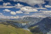 Beautiful scenery with views of the Mountains of Altai