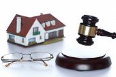 House,gavel and glasses