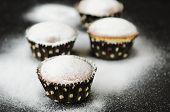 Muffins In Powdered Sugar