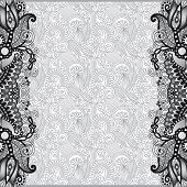 grey unusual floral ornamental template