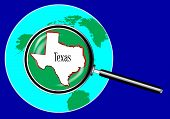 Magnifying Glass Over Texas