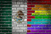 Dark Brick Wall - Lgbt Rights - Mexico