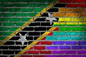 Dark Brick Wall - Lgbt Rights - Saint Kitts And Nevis