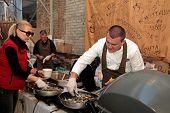 Street Food Festival In Kyiv, Ukraine.