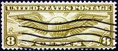 Postage Stamp Usa 1932 Winged Globe