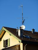 Antenna On A Roof