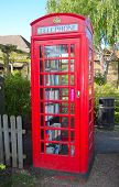 English phone box