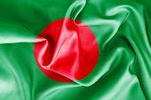 foto of bangladesh  - Bangladesh flag texture creased and crumpled up - JPG