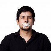 Silenced Hispanic Man