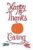 Happy Thanksgiving Design Card