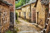 Impressionist Art Of Jiangtou Ancient Village China