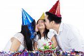 Cheerful Girl Celebrate Birthday