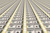 USA Dollars Money Background.