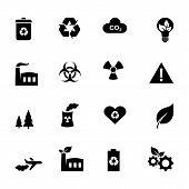 Set of flat icons - ecology and environment