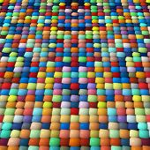 Multicolored Jigsaw Puzzle Pattern As Abstract Background.