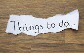 Written Things To Do