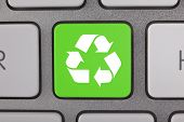 Recycle Symbol on a Keyboard