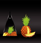 card with pineapple