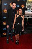 LOS ANGELES - OCT 12:  Michael Alvarado, Carissa Rae Alvarado at the