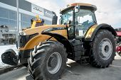 Tractor on agricultural machinery exhibition