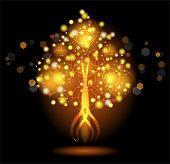 Glowing Colorful Tree