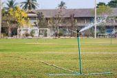 Sprinkler In Football Field