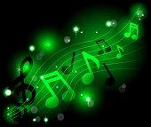 Shining Musical Notes