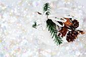 White Snowy Christmas Decoration