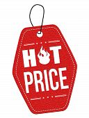 Hot Price Red Leather Label Or Price Tag