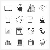 Icons  collection  of web design objects. Vector illustration