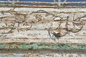 Texture Of The Side Of A Ship Wreck.