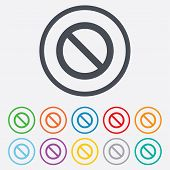 Blacklist sign icon. User not allowed symbol.