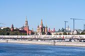 Temple Of Vasiliy Beatific, Red Square And Kremlin