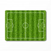 Green grass soccer field. Vector.