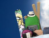 Baggage tourist skier