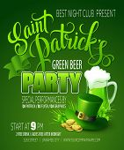 St. Patricks Day poster. Vector illustration