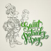 leprechaun. St. Patricks Day vector illustration