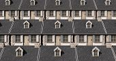 picture of quaint  - A tiled pattern made up of tightly packed quaint stone cottages - JPG