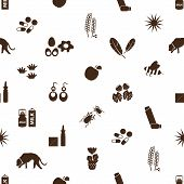 Allergy And Allergens Icons Seamless Pattern Eps10