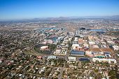 stock photo of piestewa  - Aerial view of greater downtown Tempe Arizona - JPG