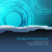 Vector futuristic technical background