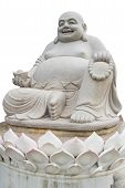 image of budha  - Smiling Big Buddha Statue isolated With clipping path - JPG