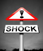 foto of shock awe  - Illustration depicting a sign with a shock concept - JPG